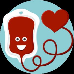 Avatar de bolsa de sangue feliz